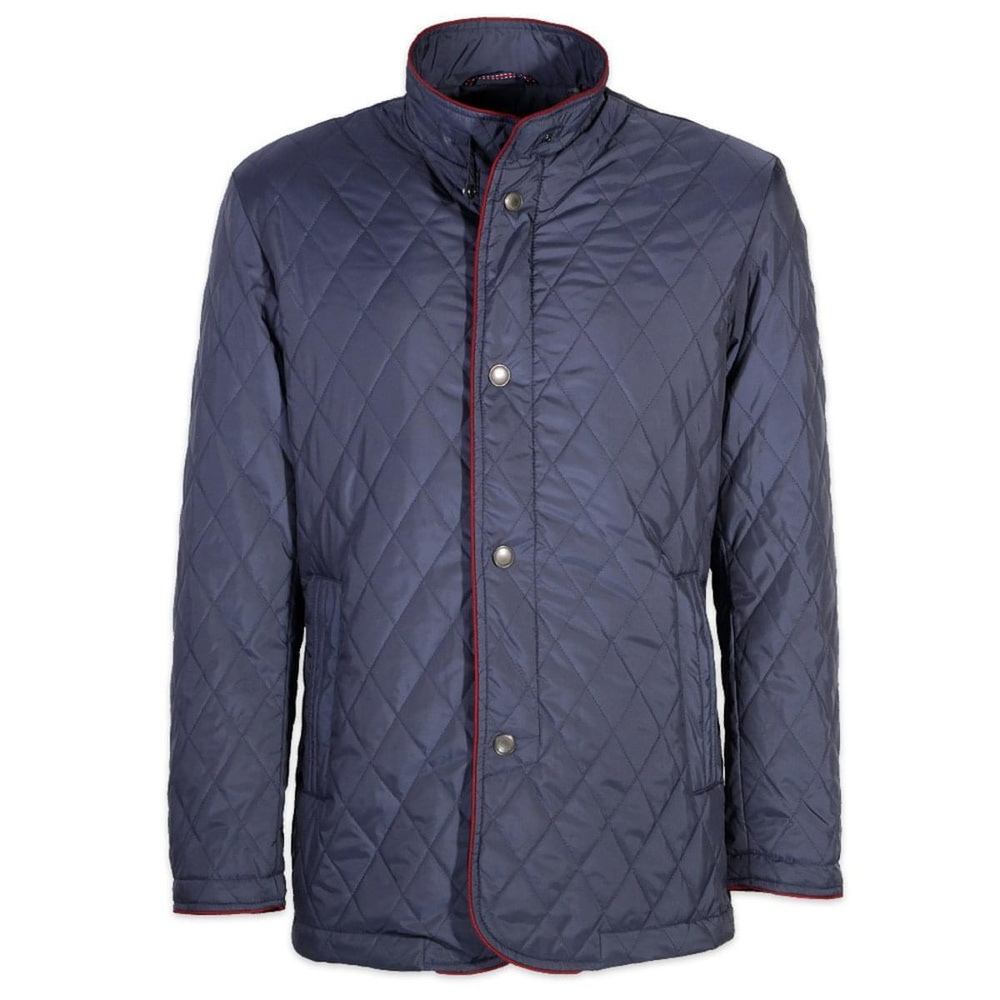 Men quilted jacket (height 176-182) 6869 in blue color