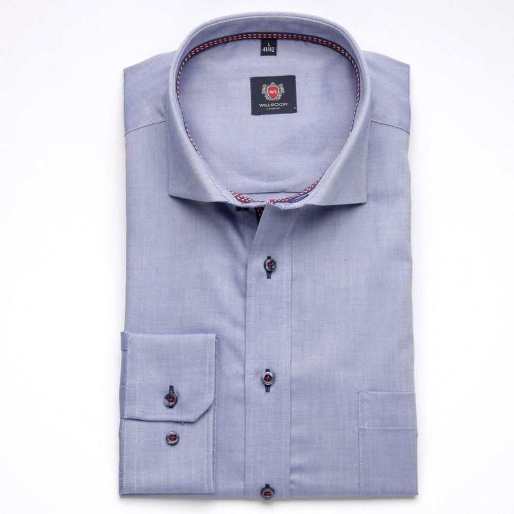 Men classic shirt London (height 176-182) 6886 in blue color with formula 2W Plus