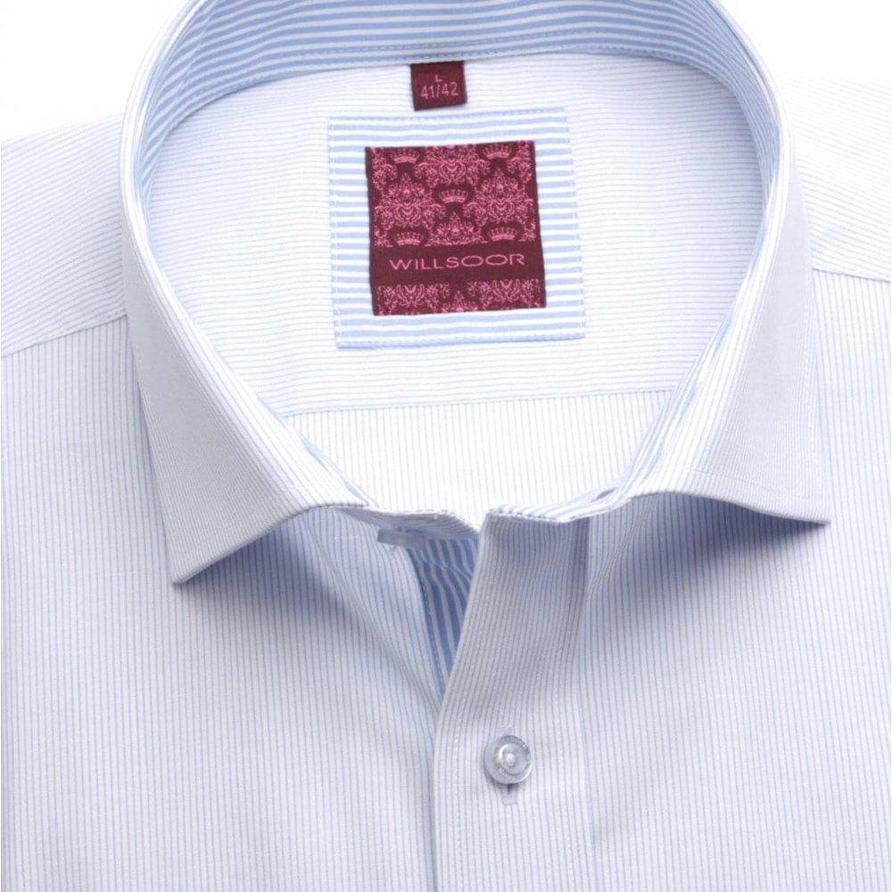 Men slim fit shirt London (height 176-182) 6899 in white color with formula Easy Care