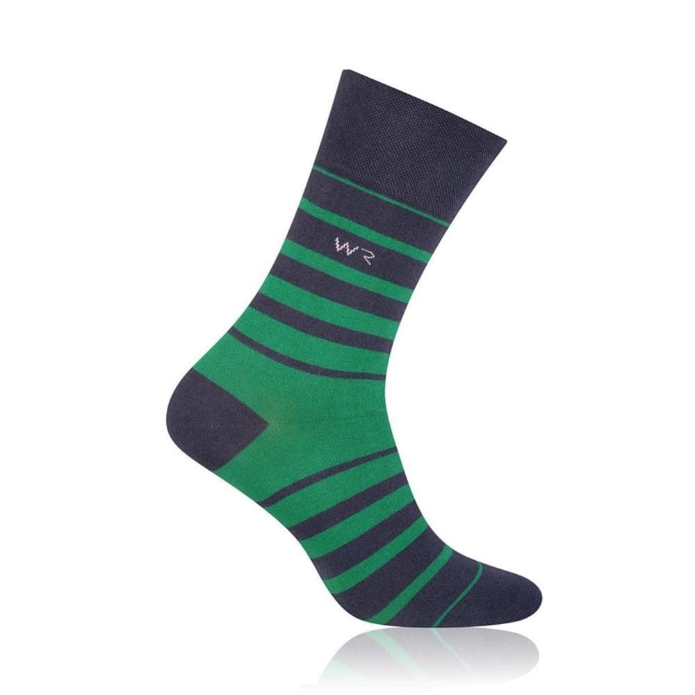 Men socks Willsoor 6962 in black color with strips