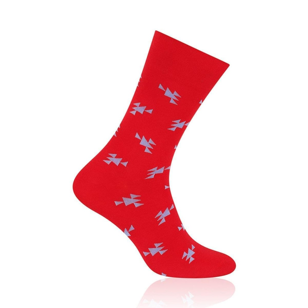 Men socks Willsoor 6966 in red color