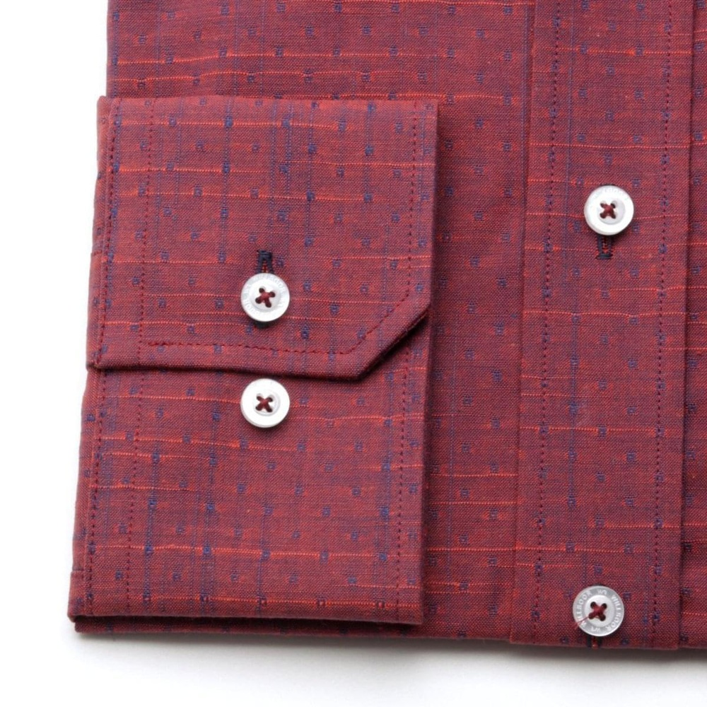 Men slim fit shirt (height 176-182) 7011 in claret color