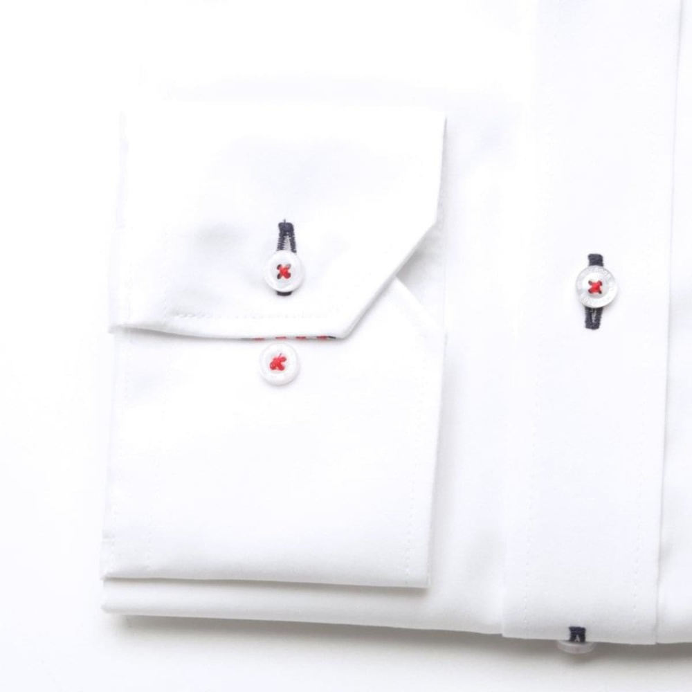 Men classic shirt (height 188-194) 7115 in white color with formula Easy Care