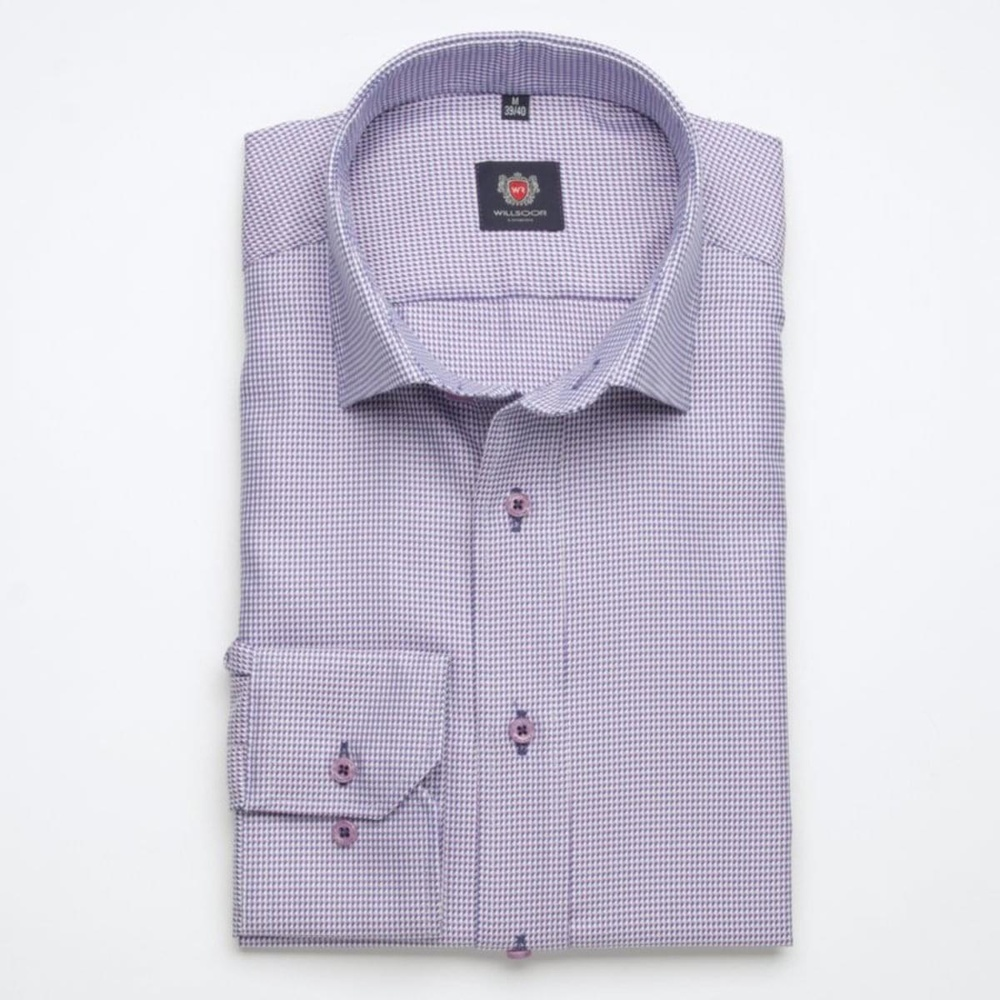 Men slim fit shirt London (height 176-182) 7136 in pink color with formula Easy Care