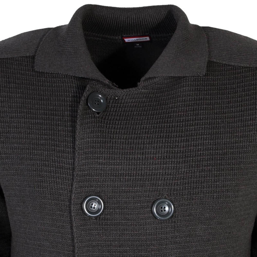 Men sweater Willsoor 7352 in graphite color