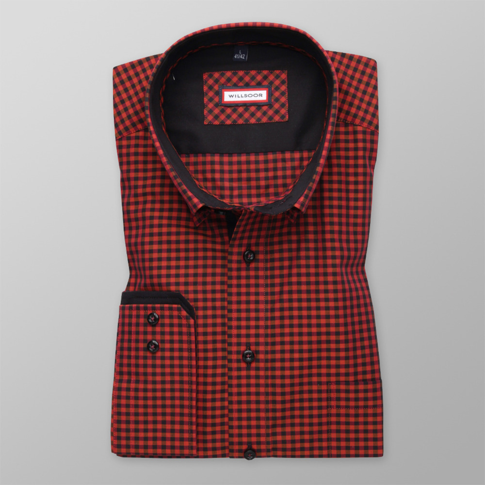 Men slim fit shirt (height 176-182) 7358 with checked