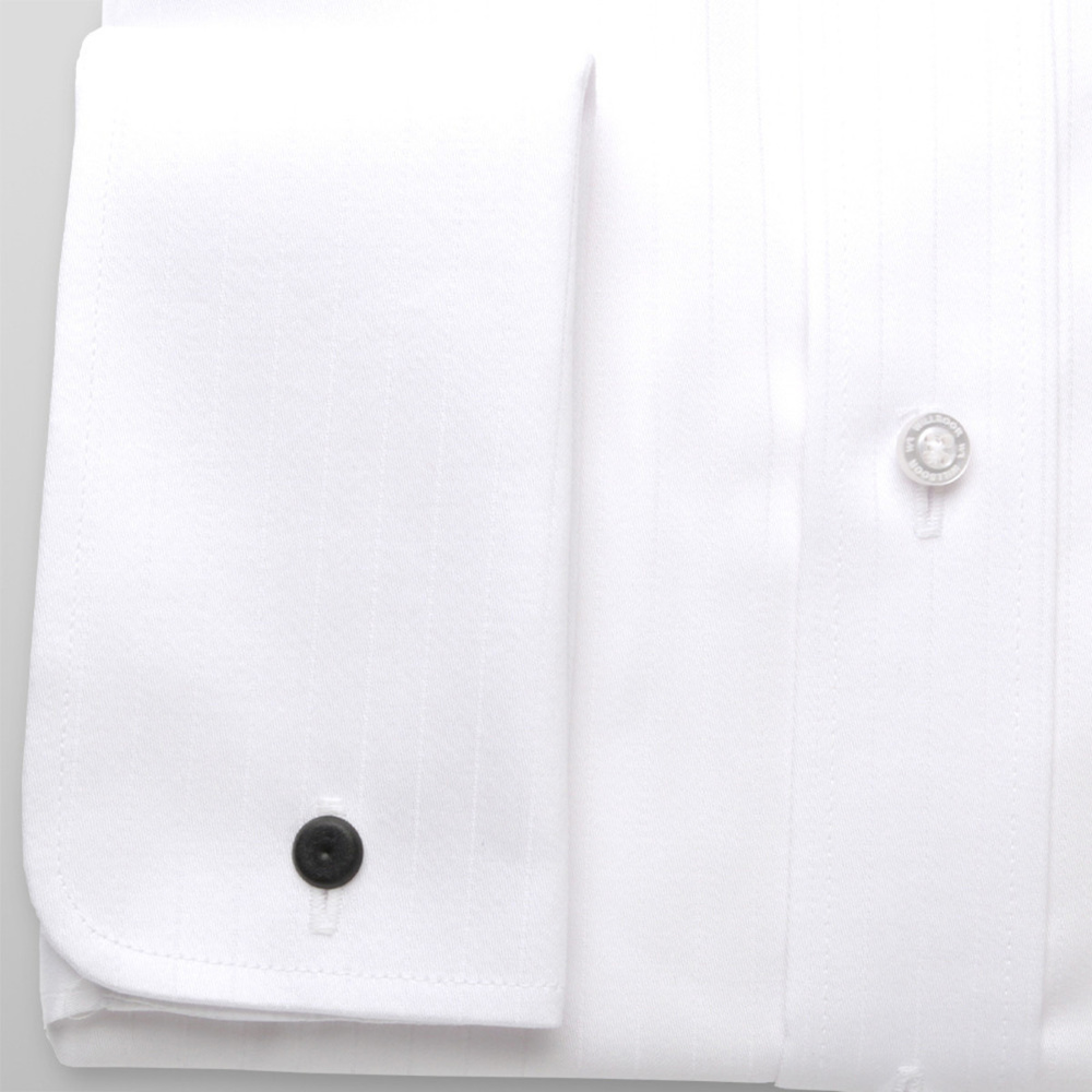 Men slim fit shirt London (height 188-194) 7492 in white color with strip