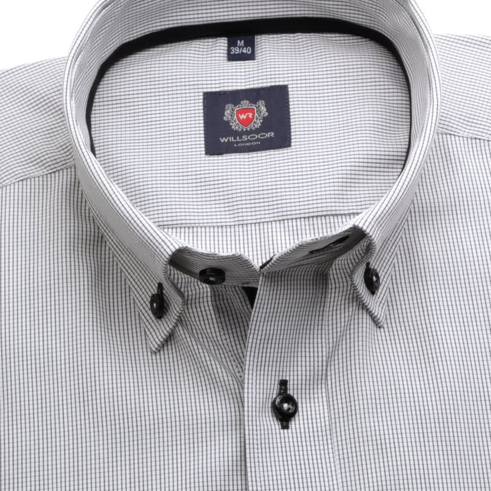 Men slim fit shirt London (height 176-182) 7501 in white color
