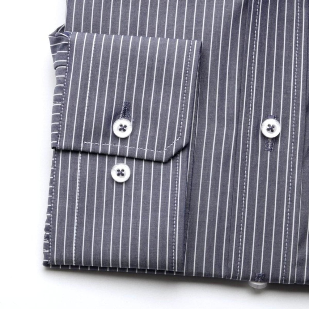 Men classic shirt London (height 176-182) 7509 in dark blue color