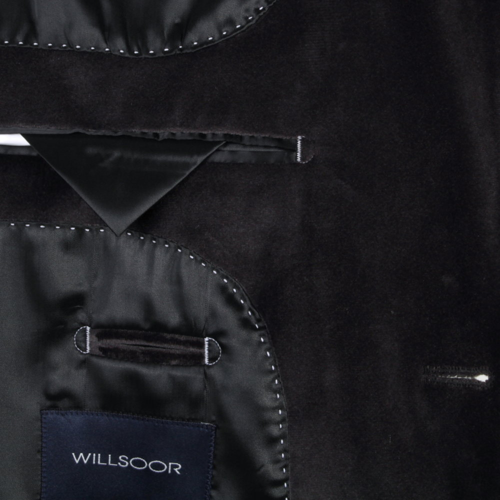 Men classic suit jacket Willsoor (height 176-182) 7617 in graphite color