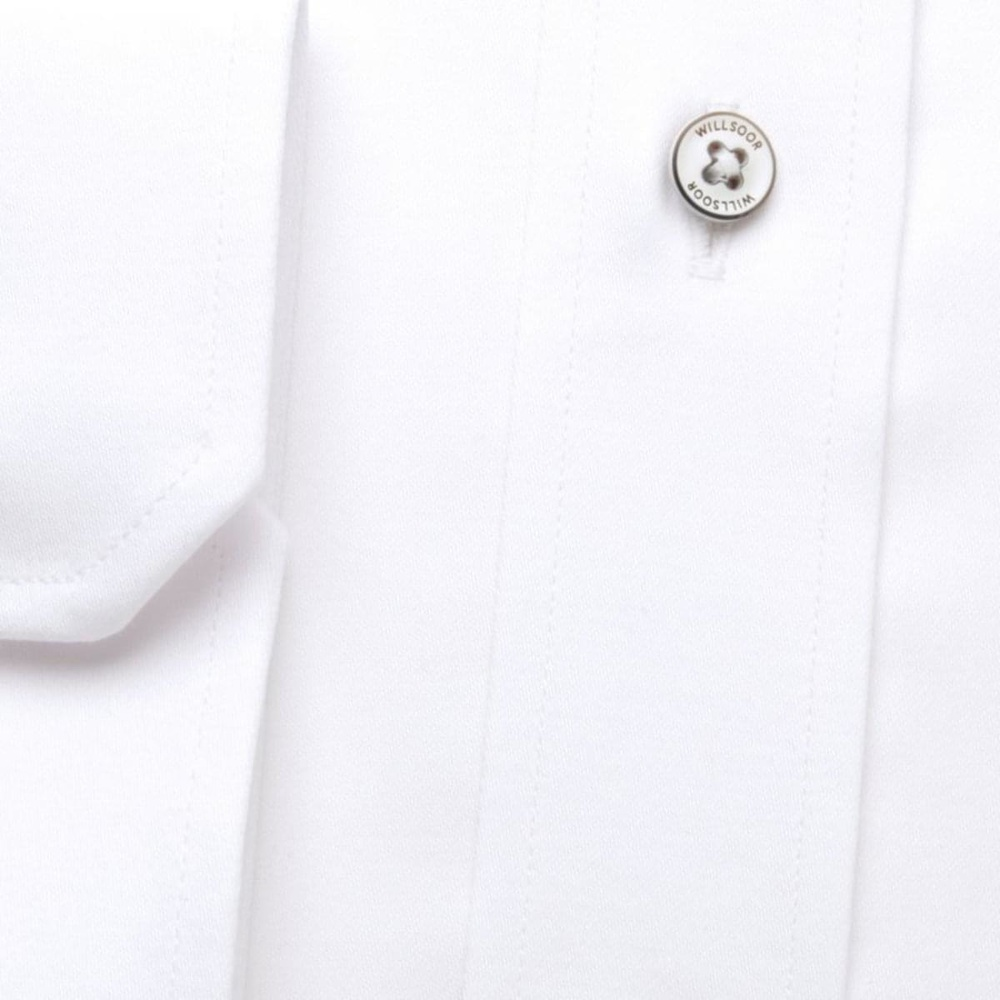 Men slim fit shirt (all height) 7794 in white color with adjusting easy care