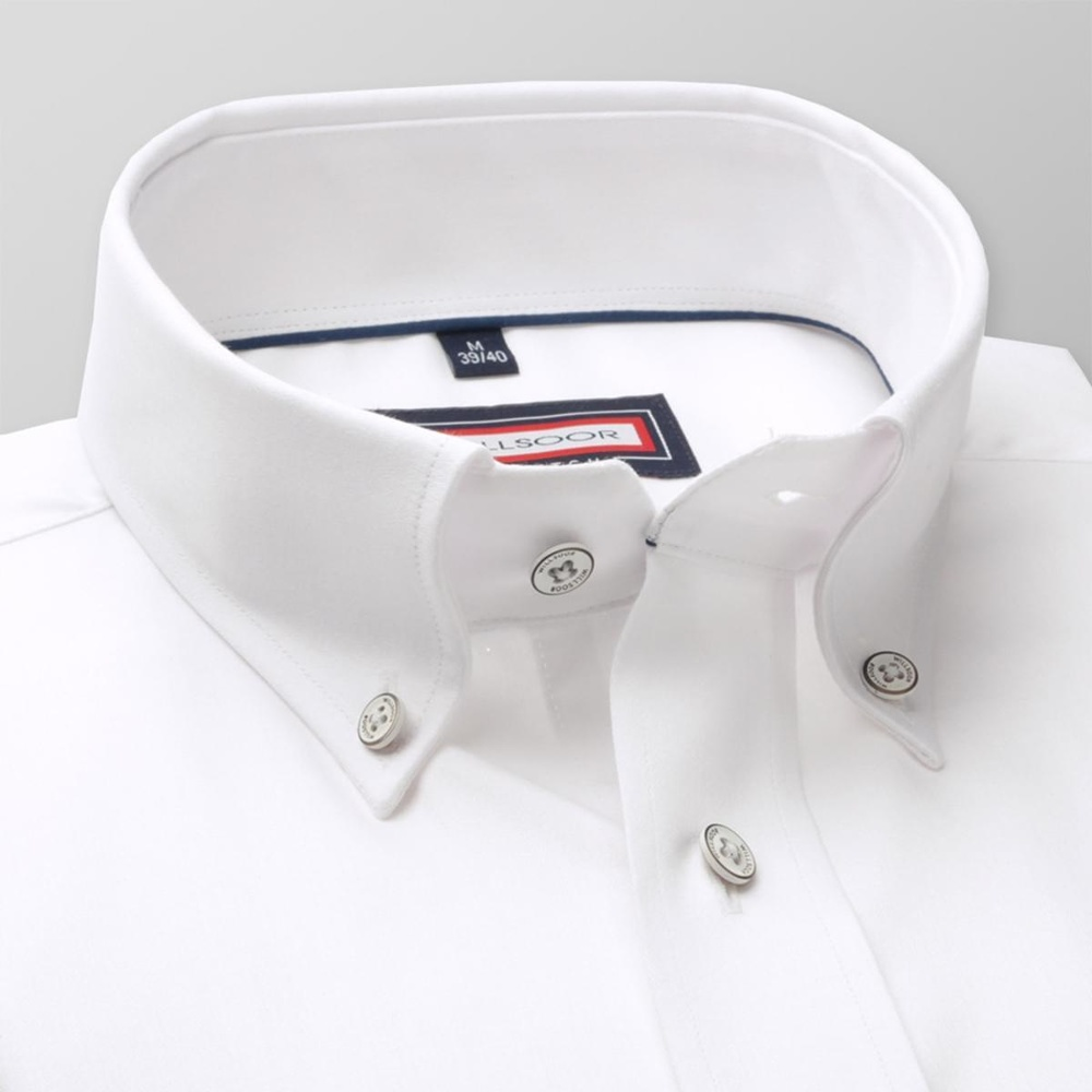 Men classic shirt (all height) 7795 in white color with adjusting easy care