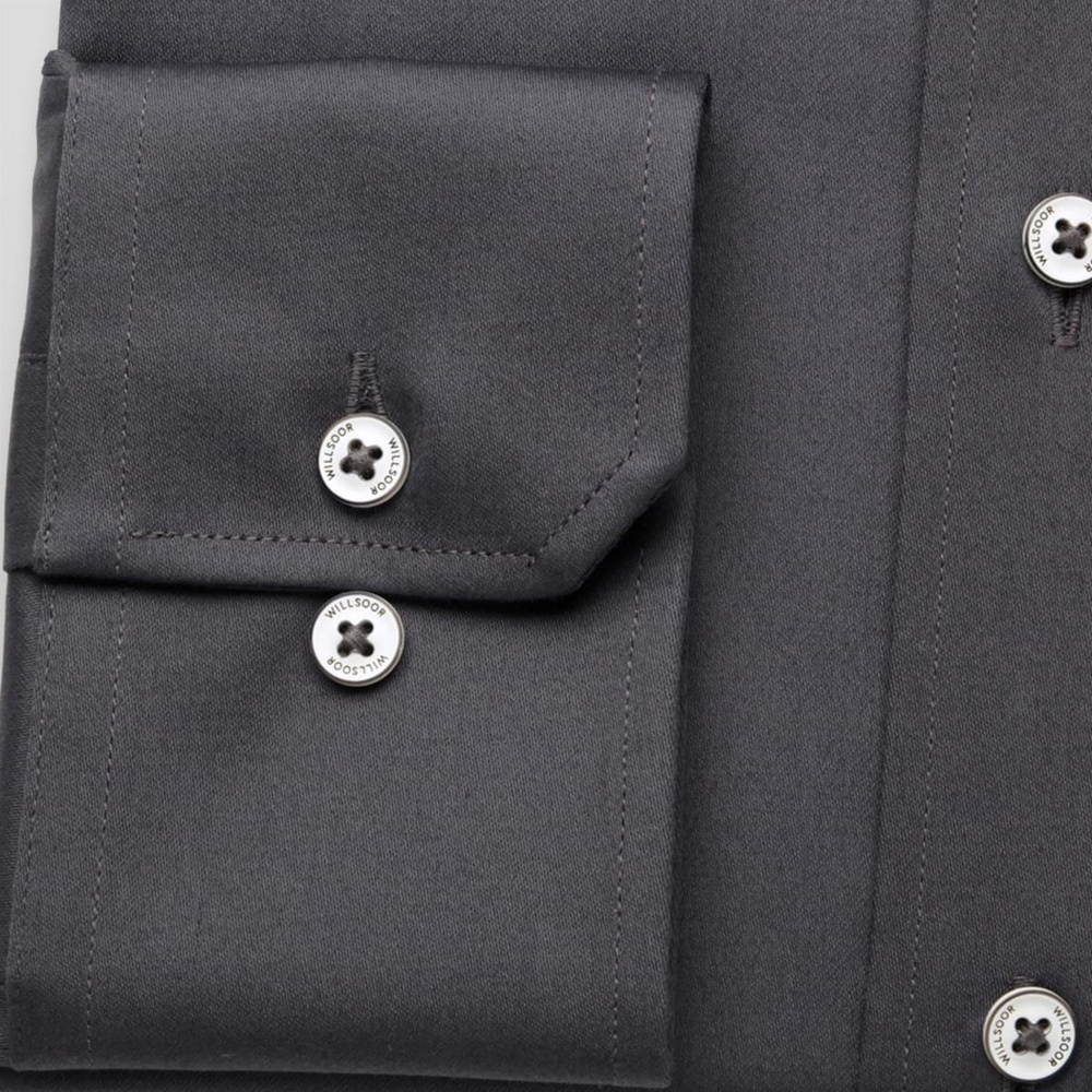 Men slim fit shirt (all height) 7802 in graphite color with adjusting easy care