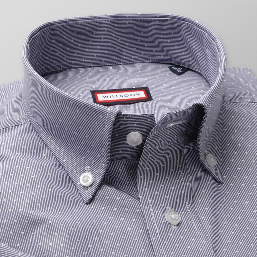 Men slim fit shirt (height 176-182) 7824 with strips a adjusting easy care