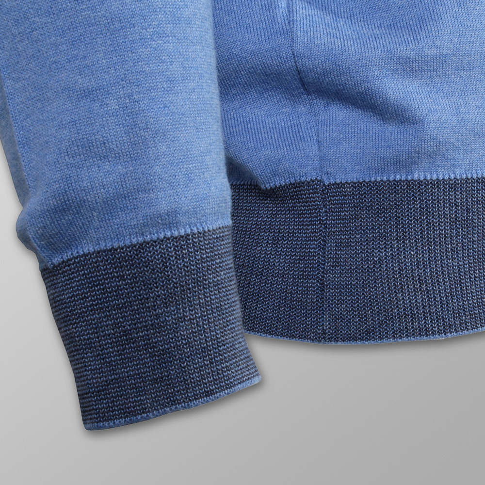 Men sweater Willsoor (size to 5XL) 7875 in light blue color