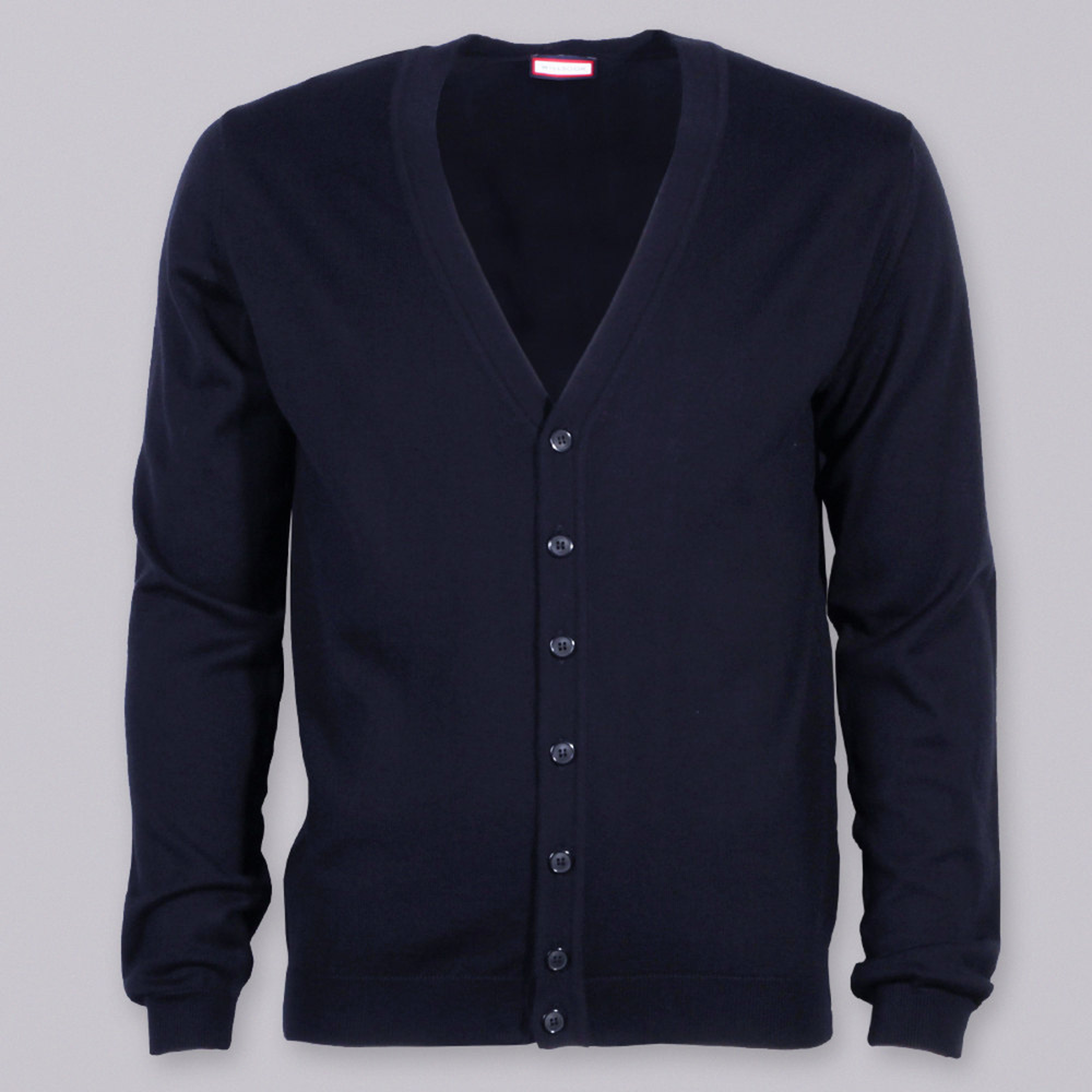 Men sweater type cardigan Willsoor (size to 5XL) 7882 in black color