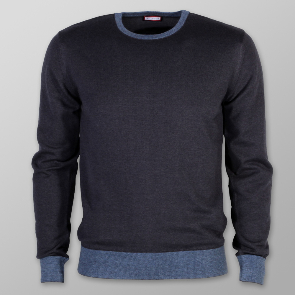 Men sweater Willsoor 7883 in dark blue color