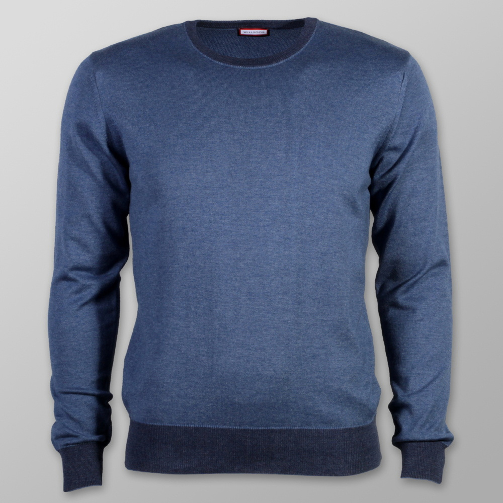 Men sweater Willsoor 7885 in blue color