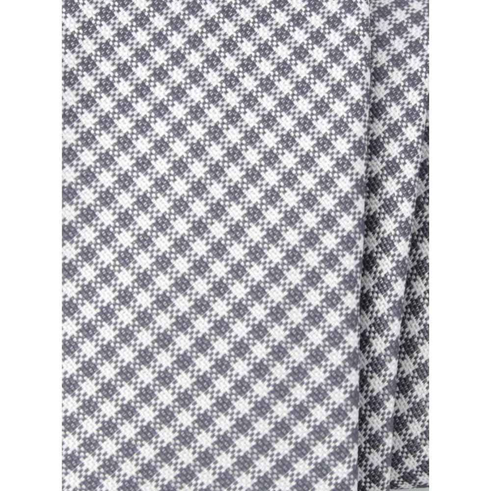 Men narrow tie of microfiber (pattern 1267) 7972 with white-gray checked