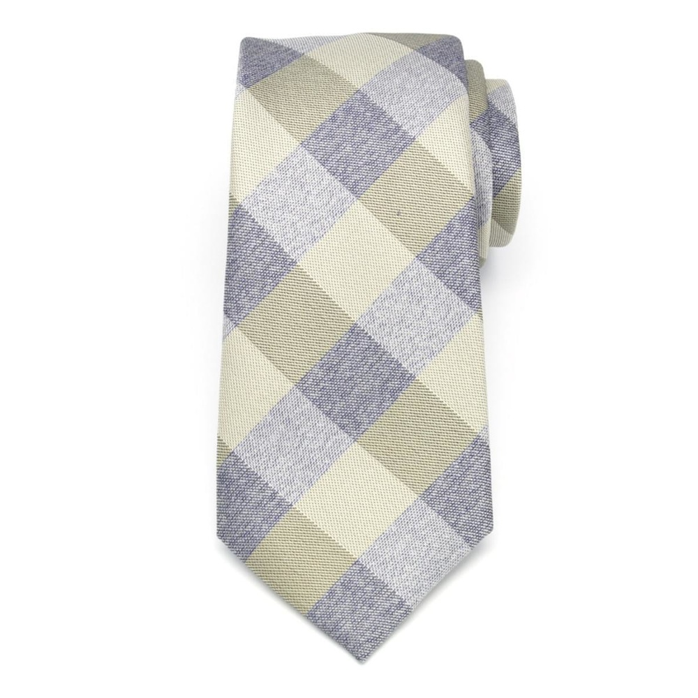 Men classic tie of microfiber (pattern 1286) 7991 with checked