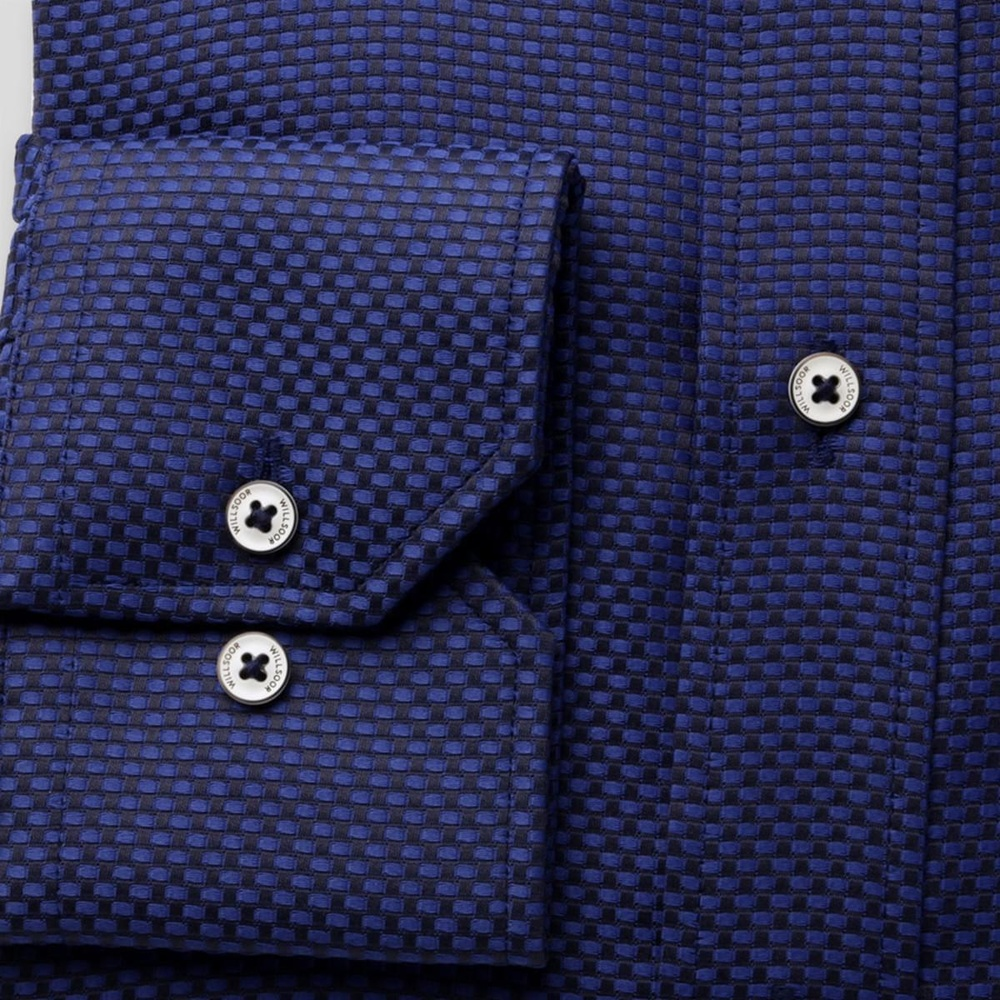 Men slim fit shirt London (height 176-182) 8023 in blue color
