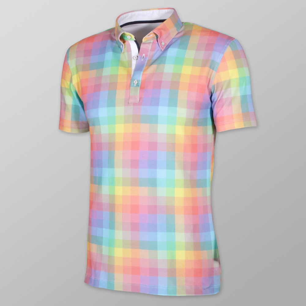 Men classic polo t-shirt Willsoor 8098 with coloured checked
