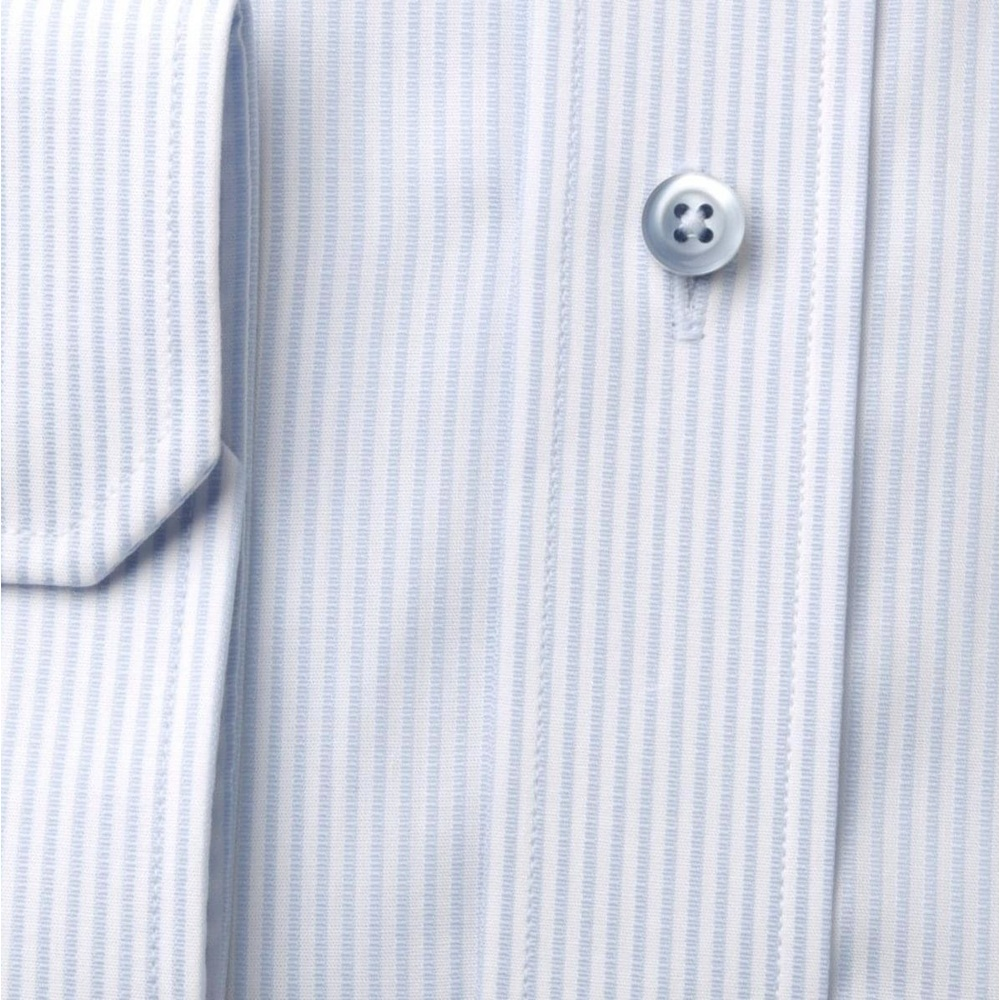 Men slim fit shirt (height 176-182) 8128 with strips in white a blue color
