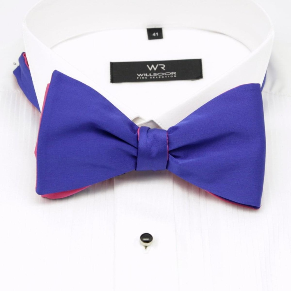 Men classic tied butterfly Willsoor 8154 in blue color