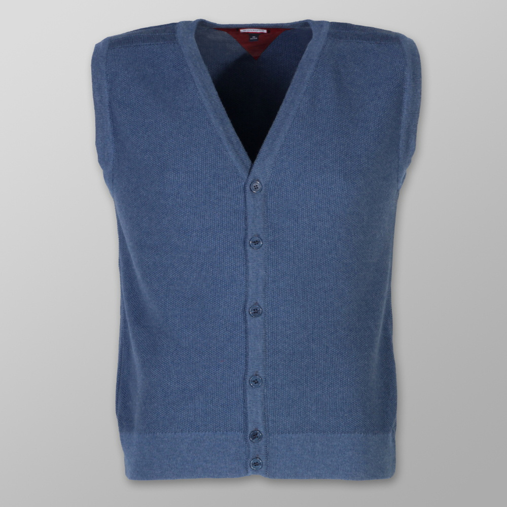 Men's knitted vest Willsoor 8236 in blue color