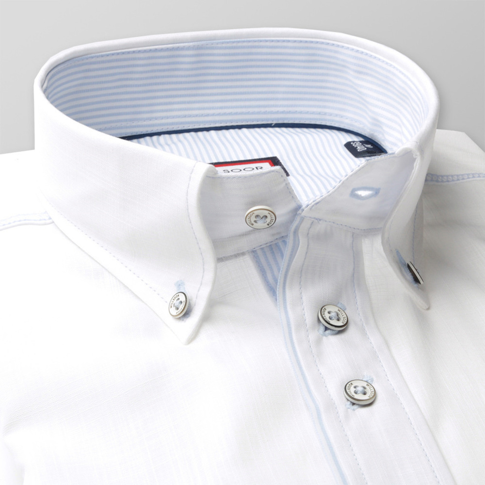 Men's Slim Fit Shirt (height 176-182) 8239 in white color