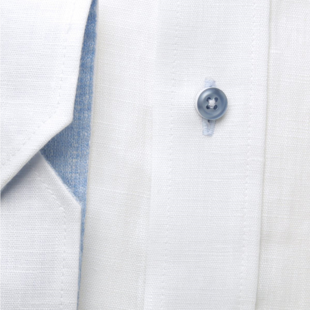 Men slim fit shirt London (height 176-182) 8249 in white color