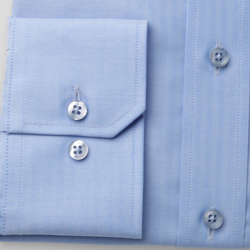 Men slim fit shirt London (all height) 8256 in blue color with adjusting 2ply  2-ply
