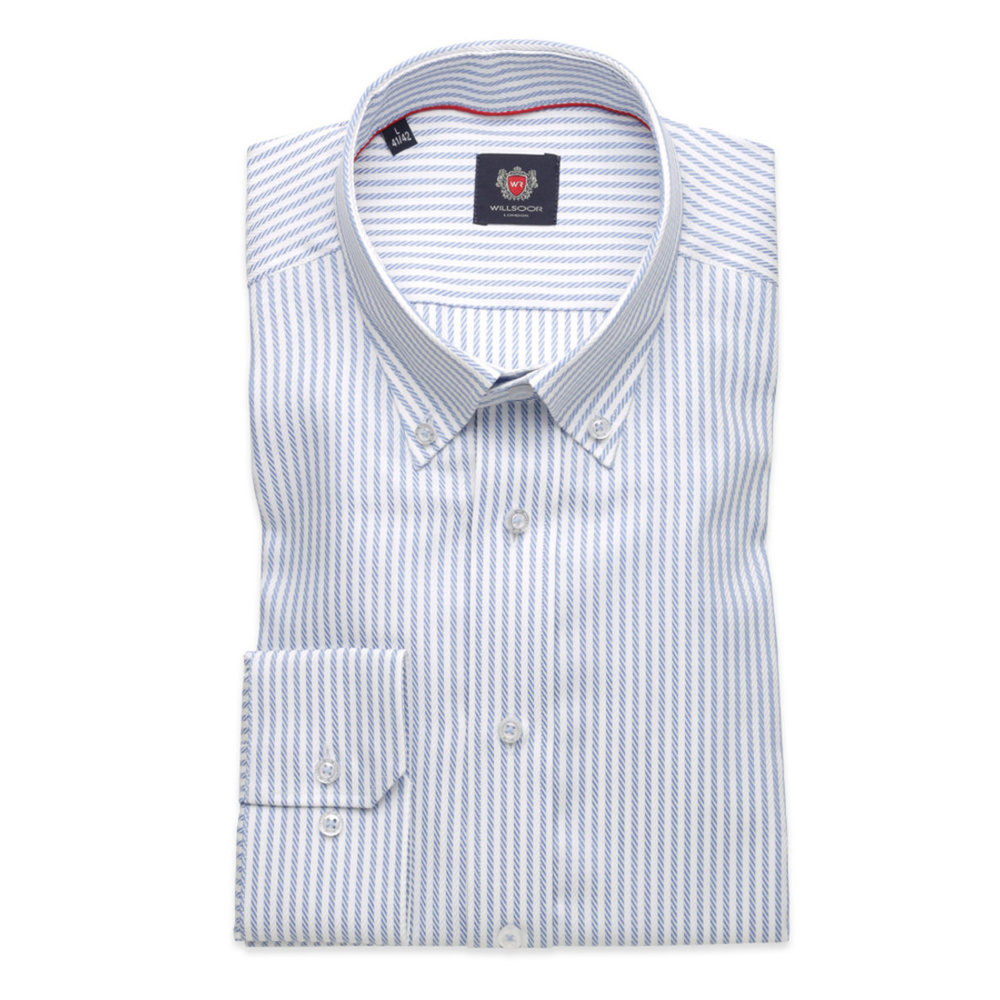 Men's Slim Fit Cut shirt London (height 176-182) 8263 with stripes
