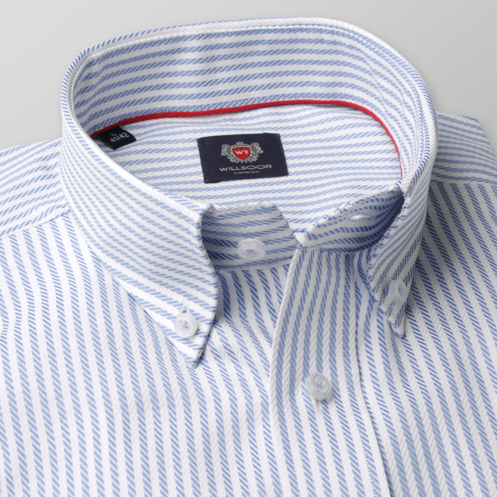 Men's Classic Cut shirt London (height 176-182) 8264 with stripes