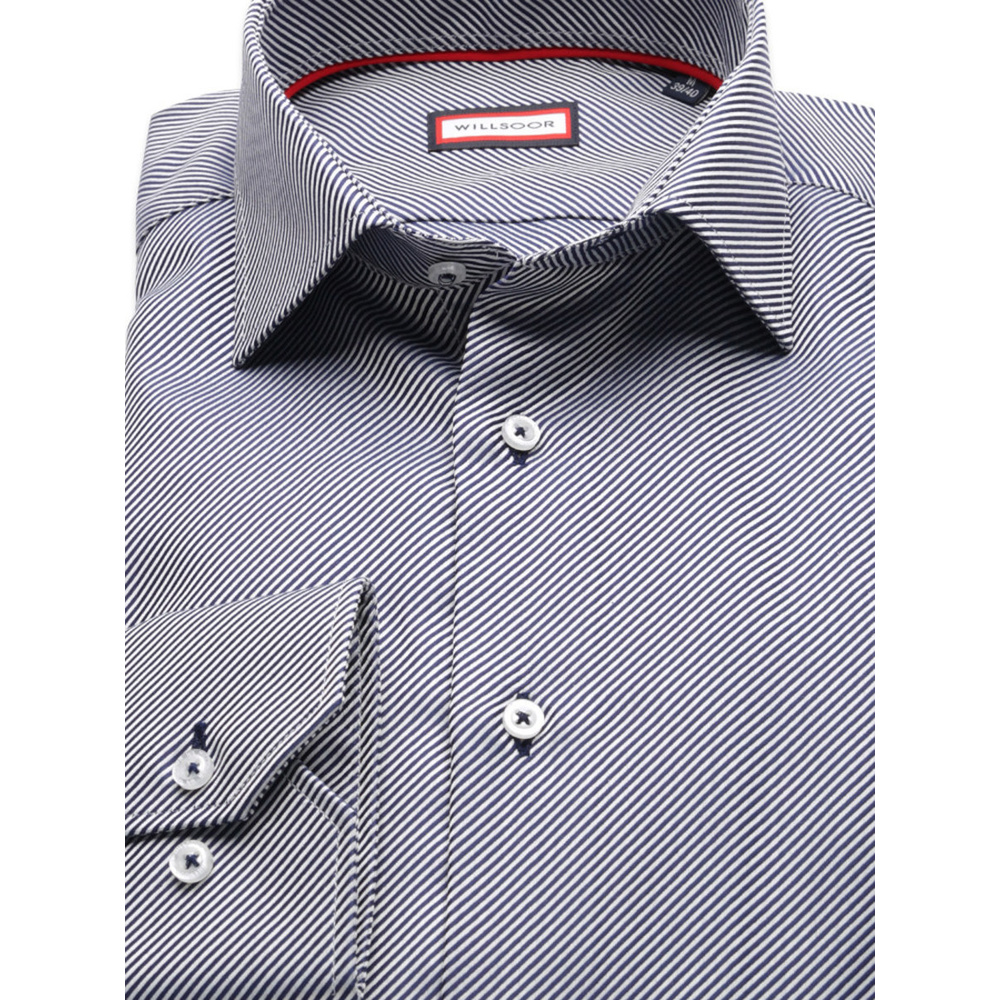Men slim fit shirt (height 176-182) 8282 with fine strips