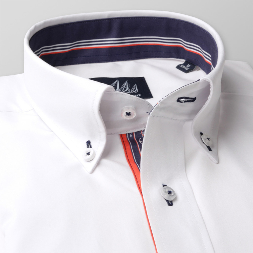 Men classic shirt (height 176-182 I 188-194) 8303 in white color