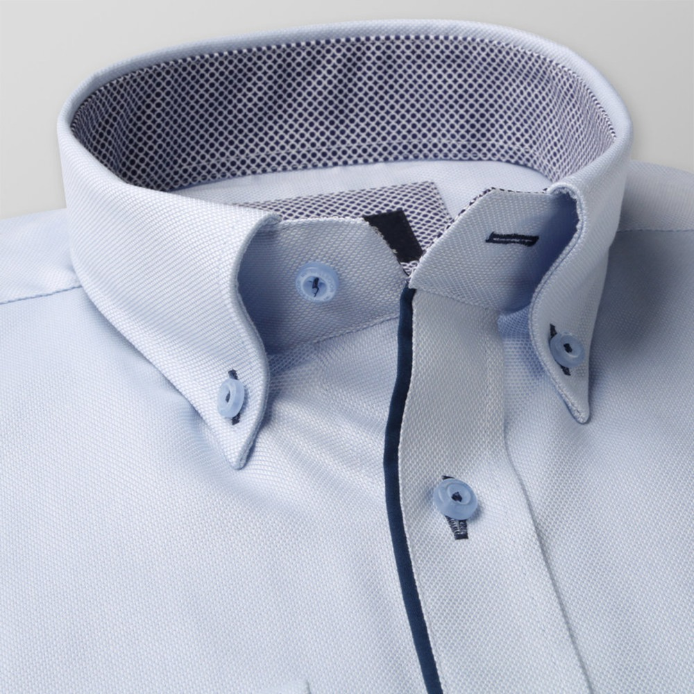 Men's light blue classic shirt London (all heights) 8359 2W Plus