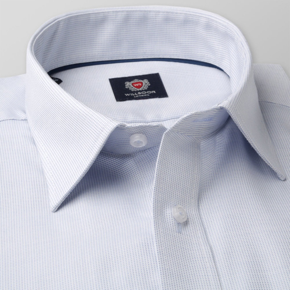 Men's light blue slim fit shirt London (height 176-182) 8364 2W Plus