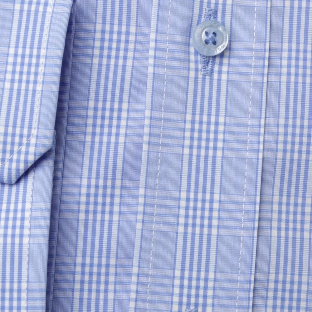 Men's classic shirt London (height 176-182) 8367 – blue color with 2W Plus