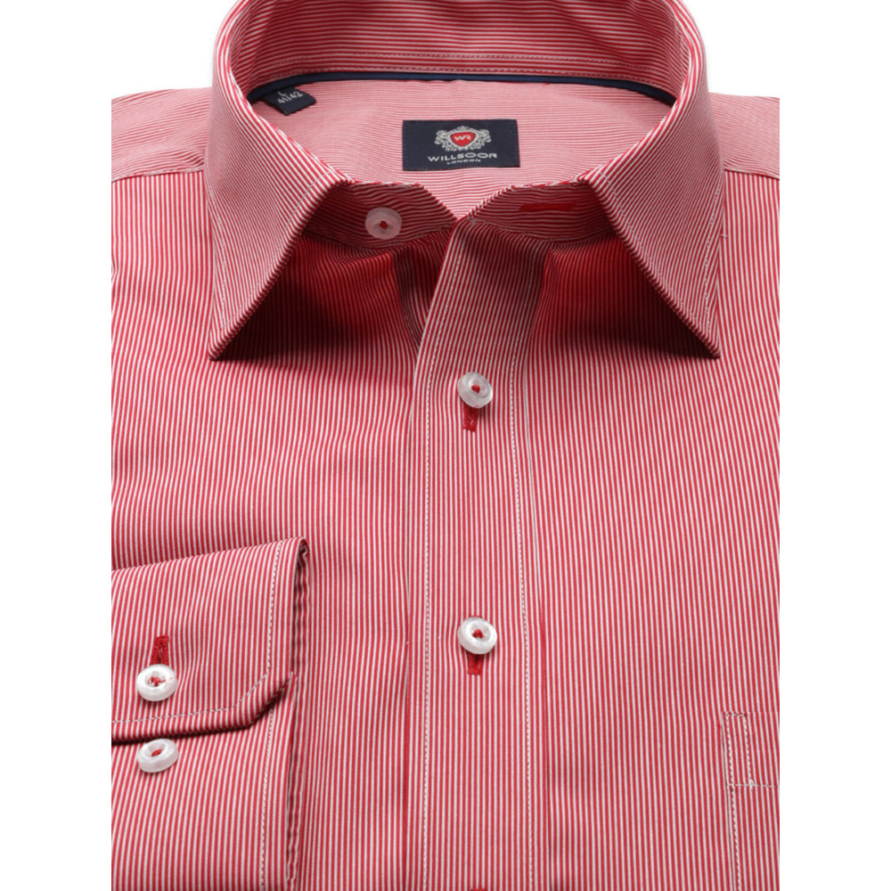 Men's red classic shirt London (height 176-182) 8369 2W Plus