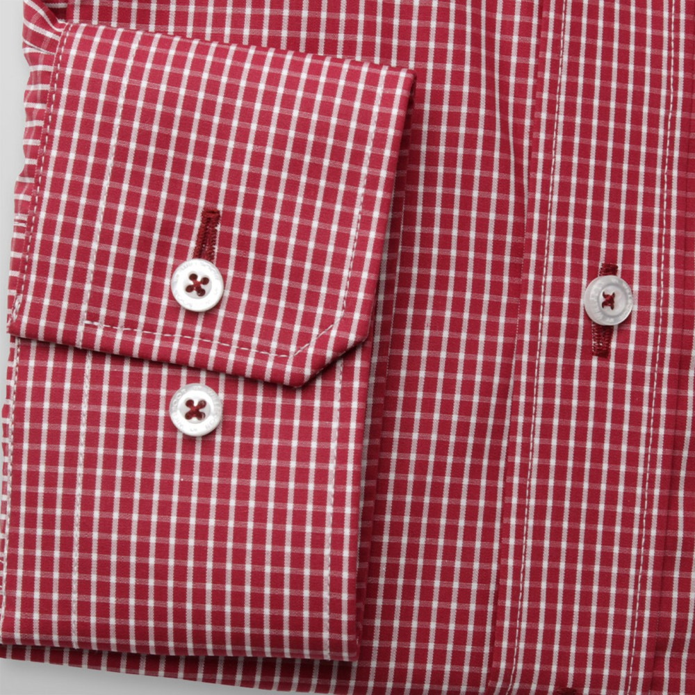 Men slim fit shirt (height 176-182) 8388 in red color with adjusting easy care