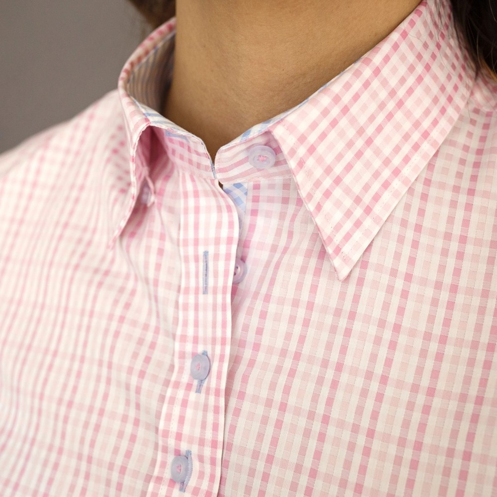 Women shirt Willsoor 8422 with coloured checked pattern
