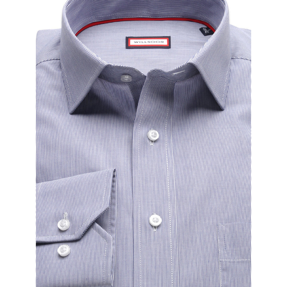 Men's blue classic shirt (height 176-182) 8425 Easy care