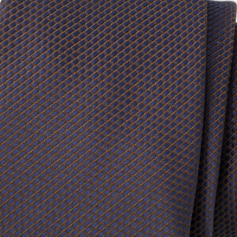 Men's dark blue classic tie (pattern 1293) 8448