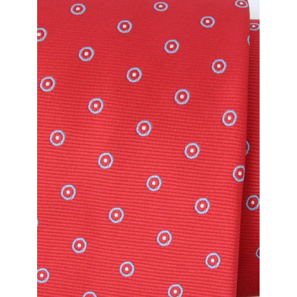 Men's red dotted classic tie (pattern 1307) 8462