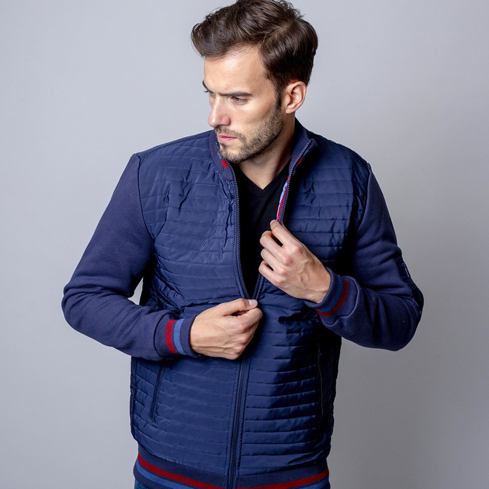 Men's dark blue quilted jacket Willsoor 8486