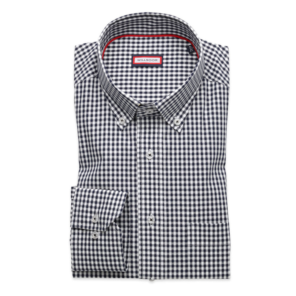 Men's gingham check classic shirt (height 176-182) 8493