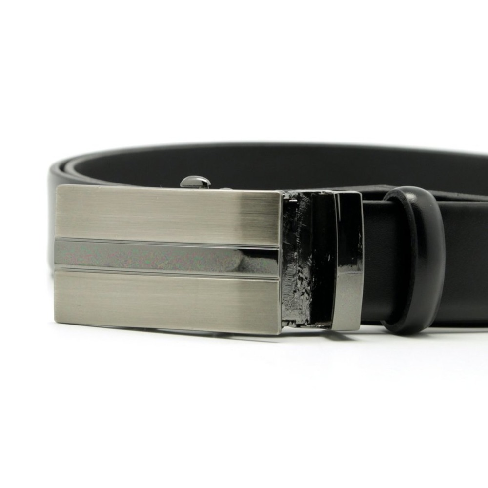 Men's black leather belt Willsoor 8534