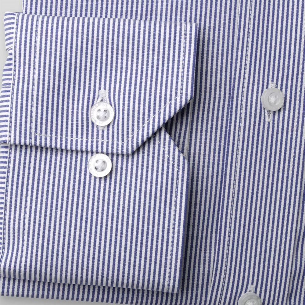 Men slim fit shirt (height 176-182) 8548 with strips a adjusting easy care