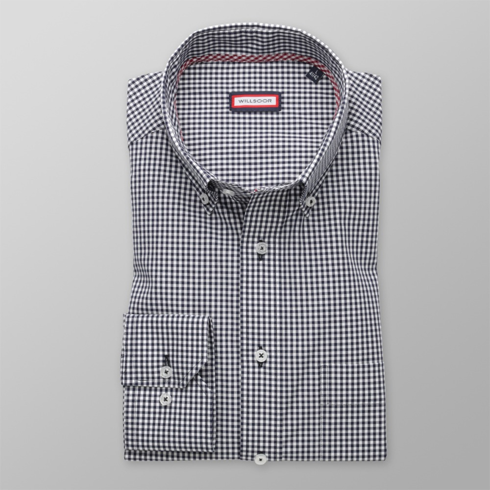 Men classic shirt (height 176-182) 8551 with checked
